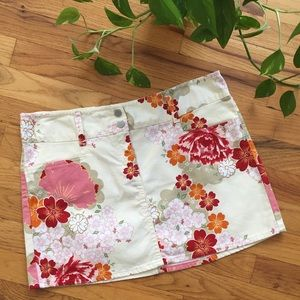 United Colors of Benetton Japanese Floral Skirt